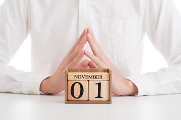 木製の日めくりカレンダー 11月
