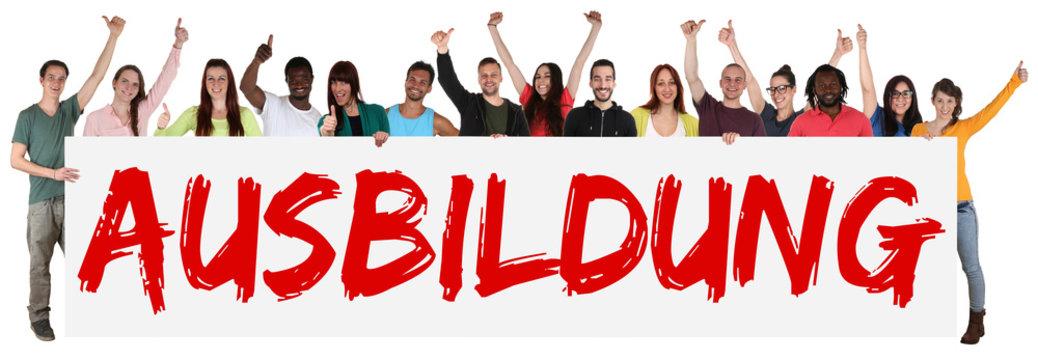 Ausbildung Jugendliche multikulturell Gruppe junge Leute People