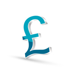 Pound currency blue symbol icon