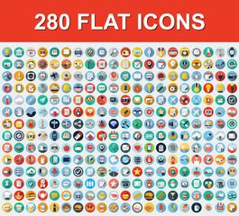 280 Universal Flat Icons