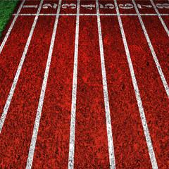 red running tracks