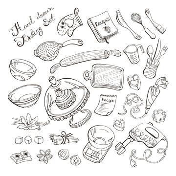 baking items doodle set