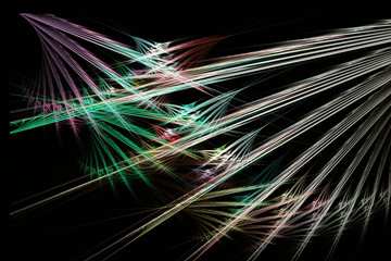 Fractal image: glowing colored arrows.