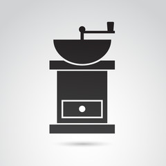 Coffee grinder VECTOR icon.