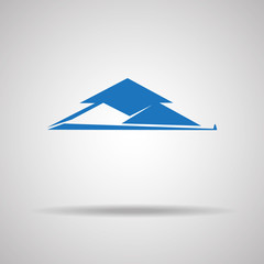 House Real Estate logo blue design