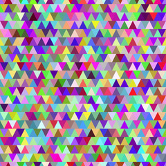 Rainbow triangles seamless pattern background