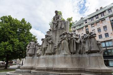 Mihály Vörösmarty Statue, Budapest, Hungary