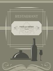 Restaurant menu. Label for design