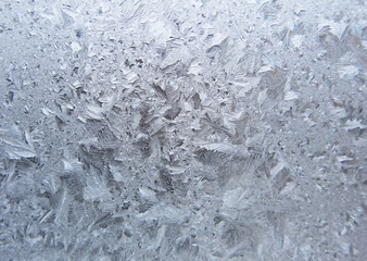 snowflakes ice on glass abstract texture background