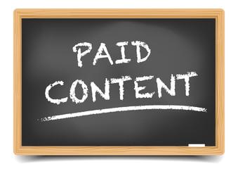 Blackboard Paid Content