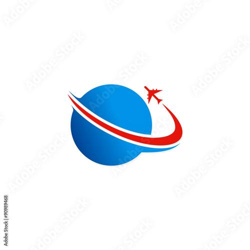 quot fly airplane travel world logoquot fichier vectoriel libre