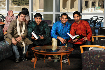 Indian Students in Traditional Attire