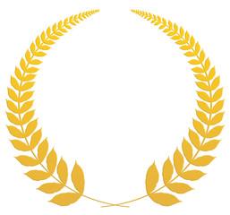 couronne de laurier, médaille d'or