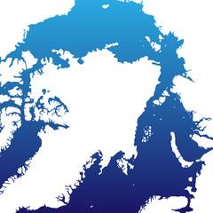 Nordpol in Blau