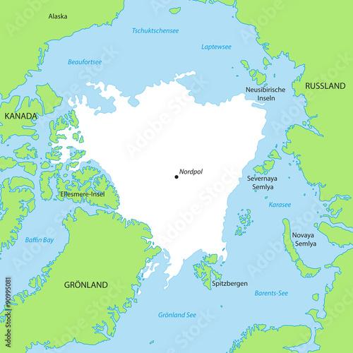 nordpol karte Nordpol   Karte in Grün