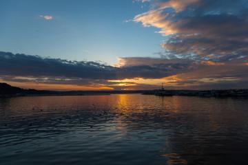 amazing sile sunset