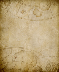 Wall Mural - old map background with copyspace