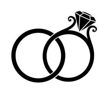 Wedding Rings Silhouette