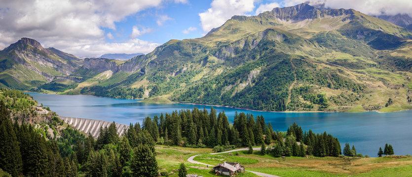 Barrage de Roselend en Savoie