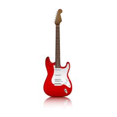 Guitarra electrica roja