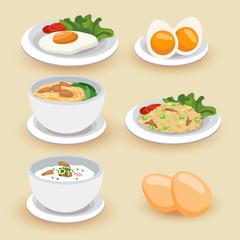 Set of food illustration
