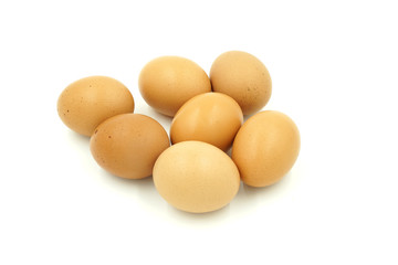 eggs , isolate on white background