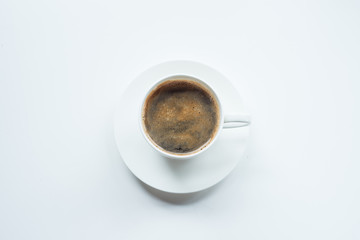 Soft focus Cup of coffee  on table