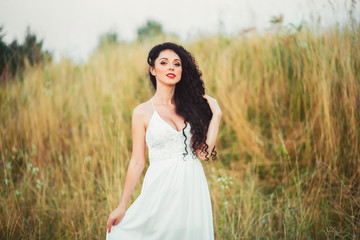 beautiful young woman with long beautiful hair