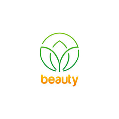 beauty abstract spa flower logo