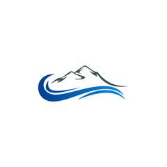 mountain water abstract vector logo