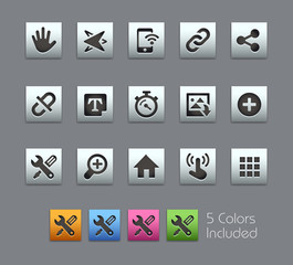 System Interface- EPS file includes 5 Colors.