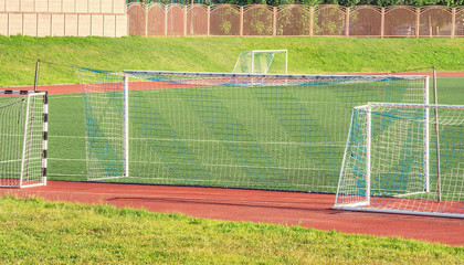 Soccer gates.