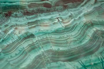 Texture of polished Malachite
