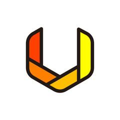 U - V Simple Modern Icon