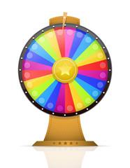 Fortune wheel vector illustration
