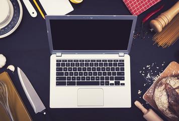 Kitchen laptop mockup