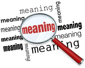 Finding Meaning Searching Looking Magnifying Glass Purpose Missi
