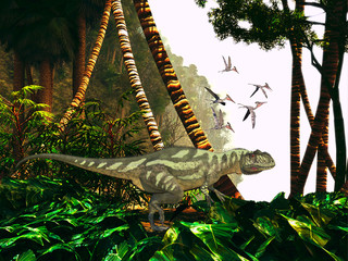 Yangchuanosaurus in Jungle