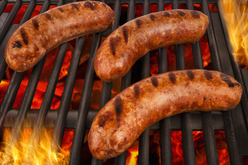 Grilled sausages