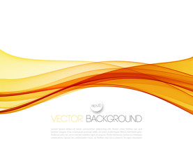 Smooth wave stream line abstract header layout. Vector