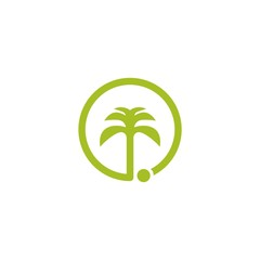 Palm Tree Vector Template