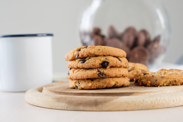 cookie and black coffee
