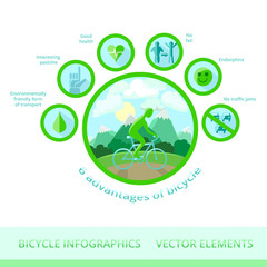 Bicycle infographics, vector elements.