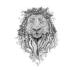 Graphic vector lion.