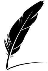 Quill pen icon, vector illustration.