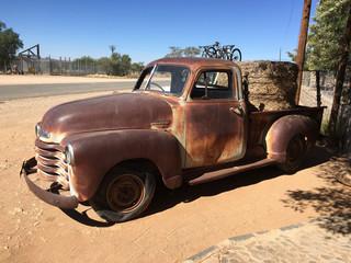 Rusting Old Truck in Helmeringhausen, Namibia
