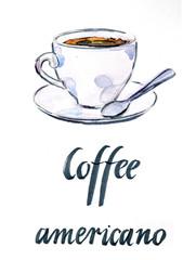 Cup of coffee americano