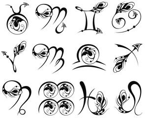 Zodiac Symbol icons vector illustration