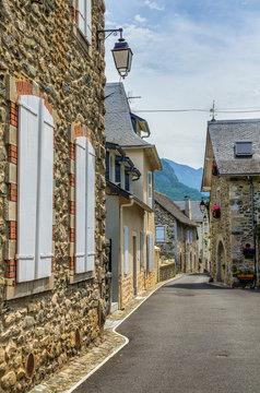 Street scene in Borce, France.