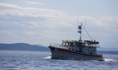 A small fishing boat in the Puget Sound
